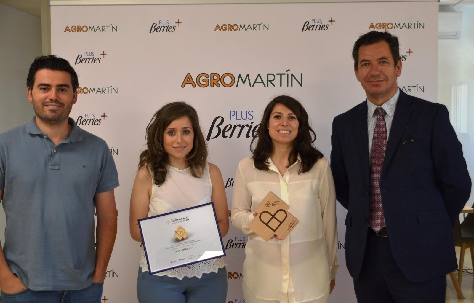 Agromartin premiado en los Premios MAZ Empresa Saludable